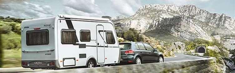 Uw caravan is ook tijdens uw vakantie goed verzekerd. bereken uw premie. Klik de afbeelding